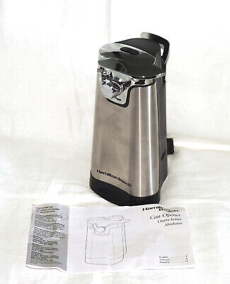 Hamilton Beach Electric Can Opener 76777 Instructions Bottle Opener New No Box