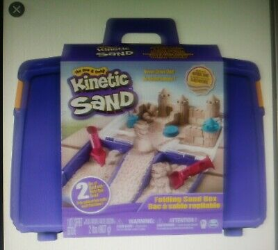 The One and Only Kinetic Sand Folding Sand Box with 2lbs of Kinetic Sand