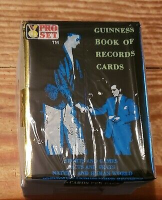1992 Pro Set Guinness Book of World Records Trading Card Set 110c with wrapper