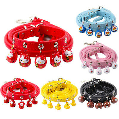 Pet Collar Bell Dog Cat Puppy Kitten Adjustable Harness Neck Strap with Bell
