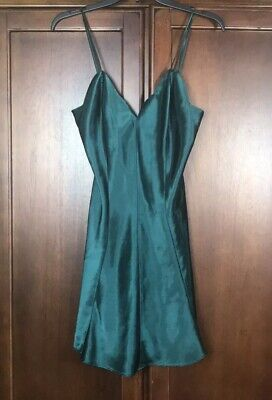 Fredrick's Of Hollywood Women Green Baby Doll Chemise Slip Size Medium