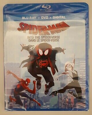 Spider-Man: Into The Spider-Verse (Blu-Ray/DVD/Digital 2019, Canadian) new