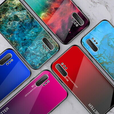 Gradient Glass Hard Case Cover For Samsung Galaxy Note 10+ S10 9 Plus A30 A70 40