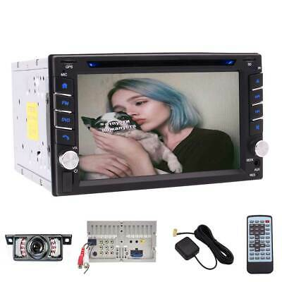 Backup Camera+GPS Double Din Car Stereo Radio DVD mp3 Player Bluetooth + NA Map