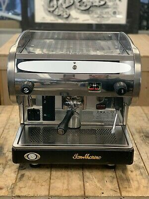San Marino Lisa R 1 Group Semi Automatic Stainless Espresso Coffee Machine Cafe