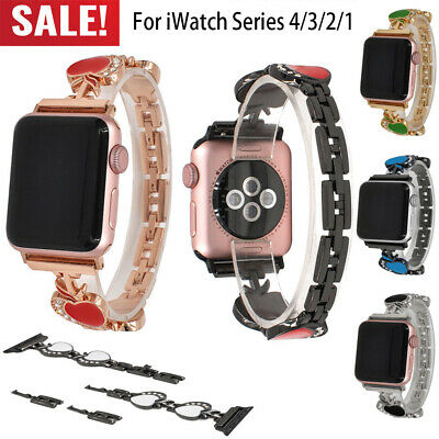 38/42mm iWatch Band Stainless Steel Bracelet Link Strap for Apple Watch 1234 UP