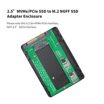 """2.5""""inch SATA Interface NVMe/PCI-E SSD To M.2 NGFF PCIe X4 SSD Adapter Enclosure"""