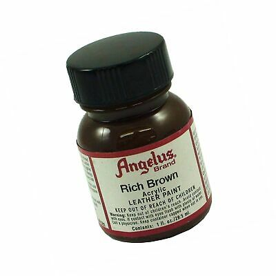 Angelus Brand Acrylic Leather Paint Water Resistant 1 oz - Select Your Color ...
