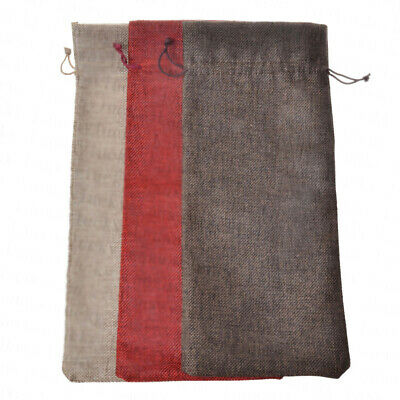 Bags Pouch Decor Christmas Wrapping Holiday Gift Carrier Holder 16x36 CM linen