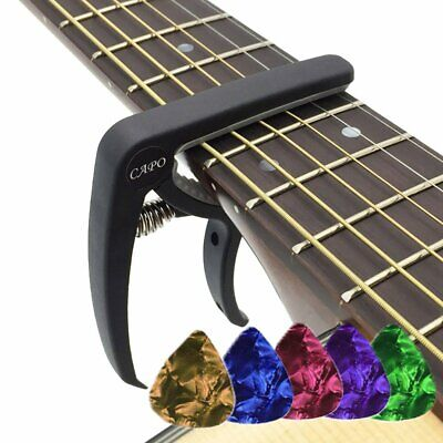 Quick Change Guitar Capo Trigger Clamps Acoustic Electric Classical Banjo SILV