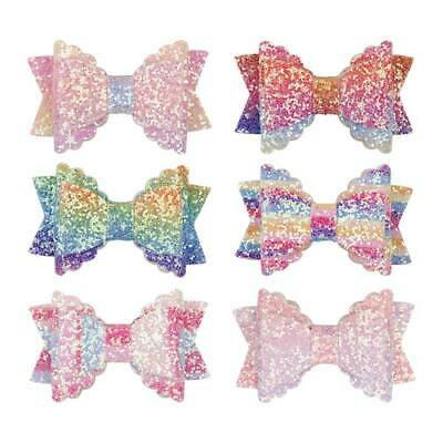 Kids Baby Girls Children Toddler Sequin Hair Clip Bow Knot Hairpin Accessories