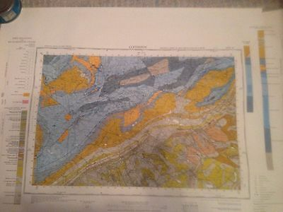 CLITHEROE Geological Survey of Great Britain Map Solid sheet 68