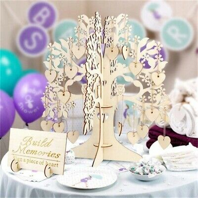 Ginger Ray Wishing Tree & Wooden Hearts Alternative Wedding Guest Book Vigor