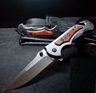 SOG Knife Survival Folding Tactical Pocket Saber Assisted Opening Camping Rescue
