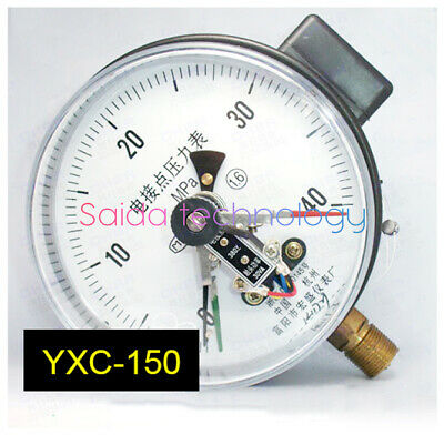 YXC-150 magnetic assisted electric contact hydraulic / oil pressure gauge 40mpa