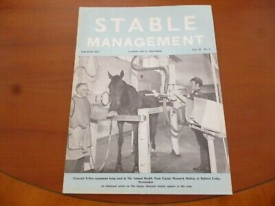 Stable Management February 1976 Equine Research Station Newmarket Horse *Read*
