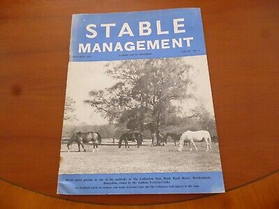 Stable Management August 1976 Catherston Stud Hampshire Horse Pony *Read*