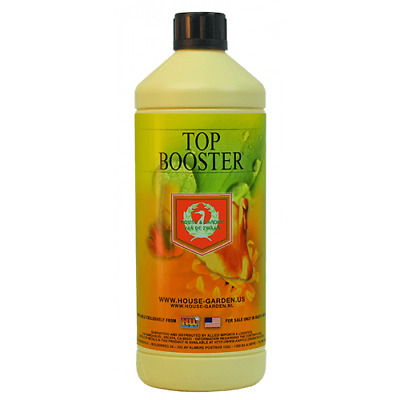 House and Garden Top Booster 1L - Flowering PK Supplement with Iron