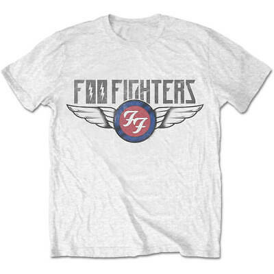 Official T Shirt FOO FIGHTERS Flash Wings White Rock Mens New Size S M L XL XXL
