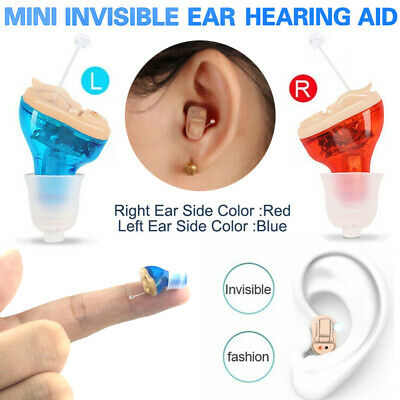 New Mini Invisible Ear Hearing Aid Amplifier Inner Ear Sound Voice Enhancer