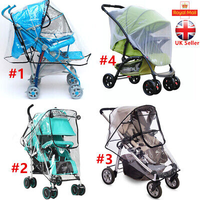 Universal Rain Cover Raincover Net For Buggy Pushchair Stroller Pram Baby Car