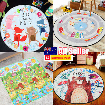 145cm Kids Game Cushion Crawling Mat Playing Round Carpet Home Blanket Floor Rug