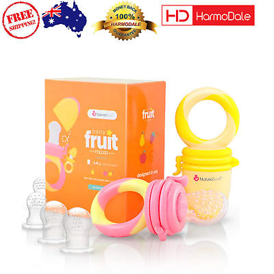 NatureBond Baby Food Feeder Fruit Feeder Pacifier 2 Pack Infant Teether Toy