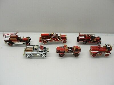 Lot Of 6 Matchbox Of Yesteryear Fire Truck Engines Die-Cast