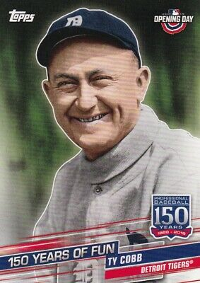 Ty Cobb - 2019 Topps Opening Day Baseball Trading Card, 150 Years of Fun