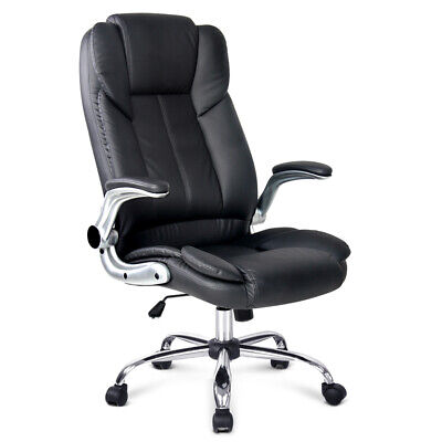 Artiss Executive Premium Office Chair Meeting Arm Chairs Leather Seating Black
