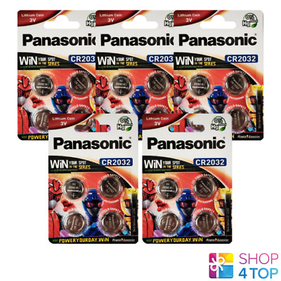 20 Panasonic Lithium Power Cr2032 Batteries 3V Coin Cell Blister Exp 2028 New