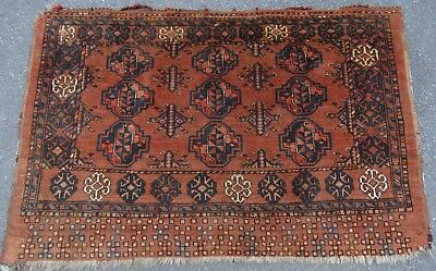 Antique Ersari Turkmen Chuval Face Rug   Variety Of Uses These Weavings