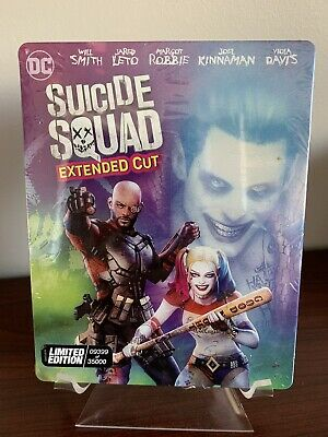 Suicide Squad Steelbook (4K UHD/Blu-ray/Digital, Limited Edition)Factory Sealed