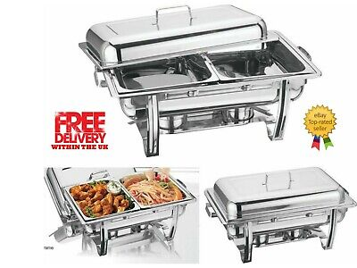 Vinod DOUBLE COMPARTMENT CHAFING / BUFFET DISH /PARTY FOOD WARMER FAST DISPATCH