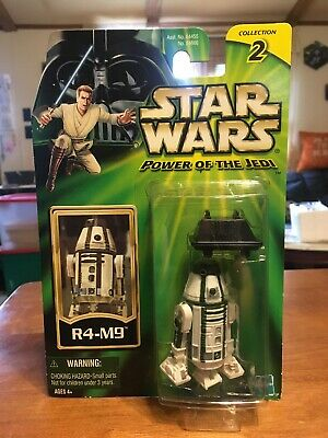 Star Wars 2000 Potj Mint On Card R4-M9 Astro Droid Figure Weapon Hasbro