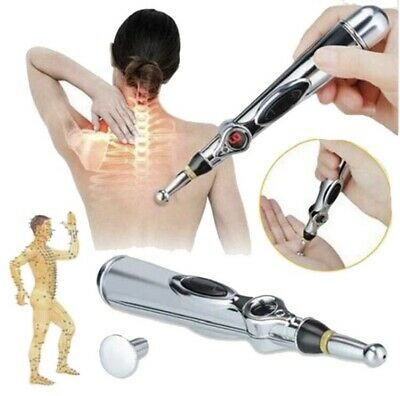 Electronic Energy Massage Pen Heal Meridian Laser Acupressure Magnet Therapy UK