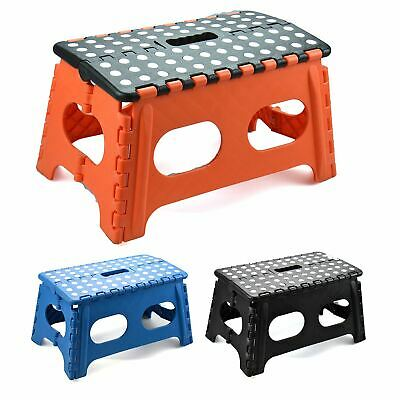 Wide Folding Foot Step Stool Multi Purpose Plastic Home Kitchen Foldable Storage