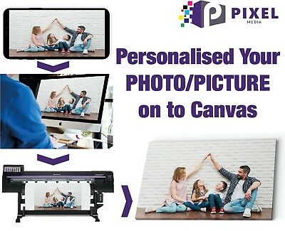 """CANVAS PRINT 12"""" x 16"""" A3 Personalised Your PHOTO/PICTURE on 18mm Frame 280gsm"""