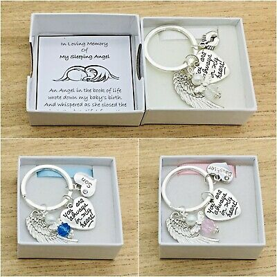 Baby Loss. You Are Always In My Heart. Round Angel Keyring. Box. Miscarriage