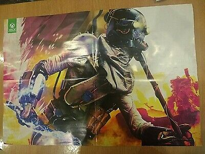Official Xbox One RAGE 2 & DOOM ETERNAL Reversible Poster 25 YEAR ANNIVERSARY