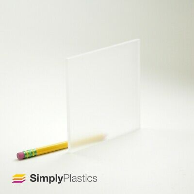 Perspex® Frosted Clear Acrylic Plastic Sheet Panel / Various Sizes + custom