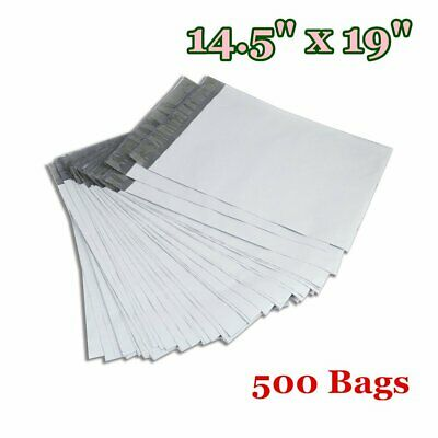 500 14.5 x 19 Poly Mailers Shipping Envelopes Self Sealing Plastic Bags 2.5 Mil