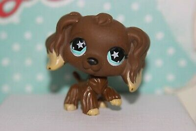 Authentic LPS 960 EPAGNEUL littlest petshop chien DOG spaniel cocker tan HASBRO