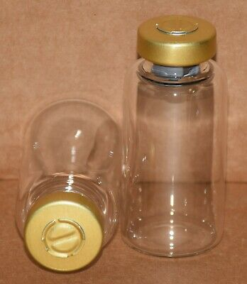 USP 20 mL Clear Sterile Vial With Gold Center Tear Seal Any Qty.
