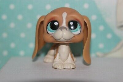 Authentic Littlest Pet Shop #1106 Tan basset hound dog