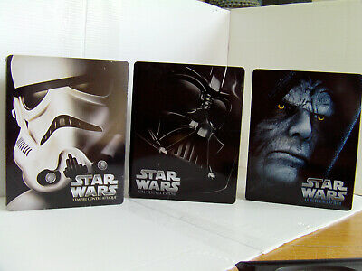 Star Wars Iv-V-Vi Steelbook 3 Blu-Ray Comme Neuf Edition Francaise + Les J.card