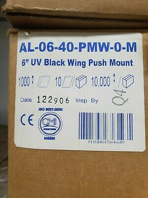 """4/"""" 18lb Black Push Mount Cable Ties With Wings 100//bag Part # PM4-18-0C-WW"""