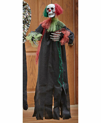 Animated Halloween Covered Porch Indoor Home Decor - Head Spinning Evil Clown