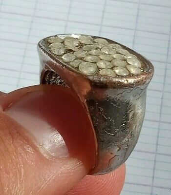rare ancient Roman silver ring artifact ring authentic Vintage