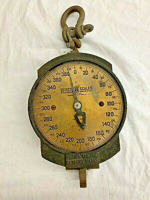 Detecto Matic 400Lb Hanging Scale 11S Series 11S27  Brooklyn Vintage Cast Iron